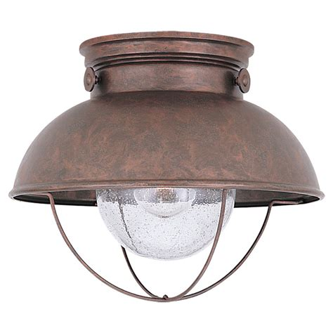 sea gull lighting sebring weathered copper outdoor ceiling