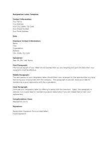 Templates Of Letters Of Resignation by Template Resignation Letter