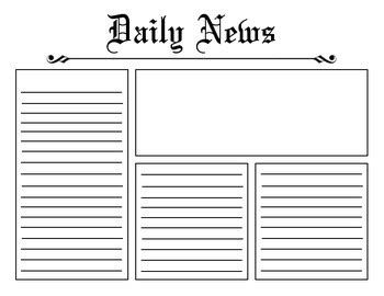 Newspaper Template Craft Digitals Printables Pinterest Newspaper Article Template Writing A Newspaper Article Template