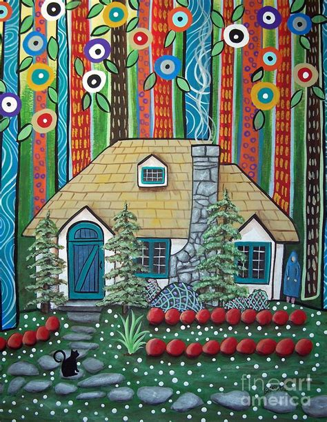 Whimsical House Plans waiting painting by karla gerard