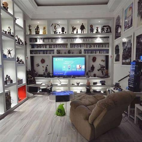 minimalist white video game rooms  hack organizer