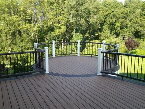 White Deck Railing With Black Balusters Trex Deck With Vintage Lantern White Rail With Black