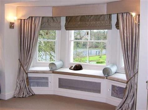 Window Treatment Ideas For Bay Windows Decorating Bay Window Treatment Ideas