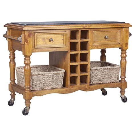 island trolley kitchen hton granite top kitchen island trolley in honey buy