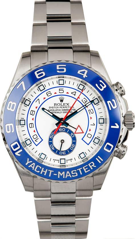 Rolex Yatch Master 2 rolex yacht master ii stainless steel 116680 certified