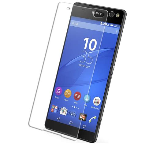 Ion Sony Xperia C Tempered Glass Screen Protector 1 tempered glass sony xperia c5 screen protector 綷