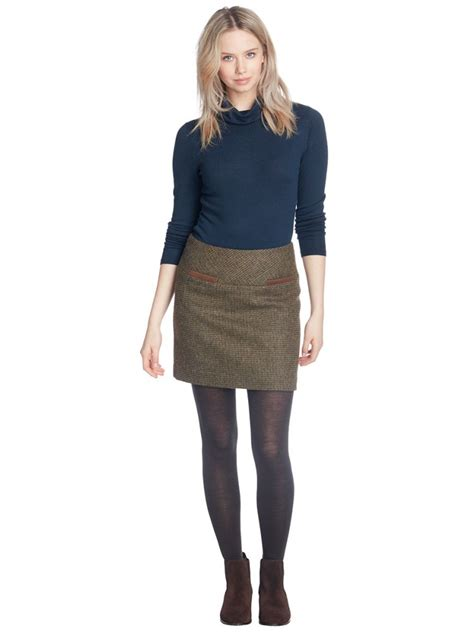 clover women s tweed mini skirt