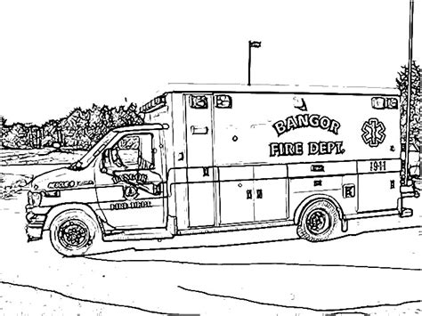 ambulance coloring page free ambulance truck coloring pages coloring pages