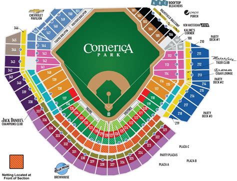ford field contact number comerica park seating map mlb