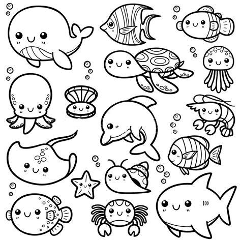 Mewarnai Hewan Laut gambar mewarnai binatang laut