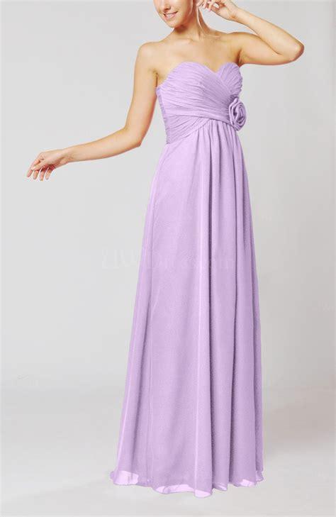 light purple simple sheath sweetheart sleeveless chiffon floor length bridesmaid dresses