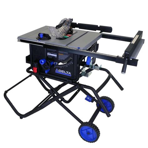 table saw portable base delta 10 in 15 portable table saw with folding stand