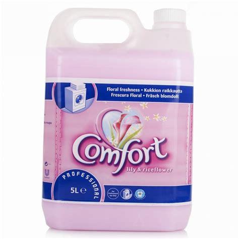 comfort fabric softener uk comfort 5l professional lily riceflower fabric softener