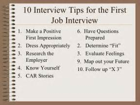 10 interview tips for the high student