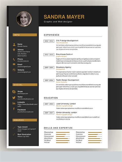 amazing resume format for 50 awesome resume templates 2016