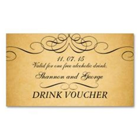 free drink card template drink tickets wedding birthday company bar