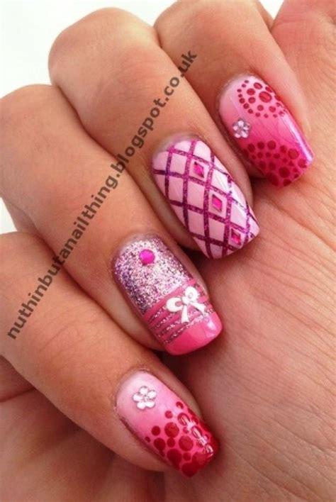 Detailed Nail Designs | wedding nail designs detailed pink nail design 2029720