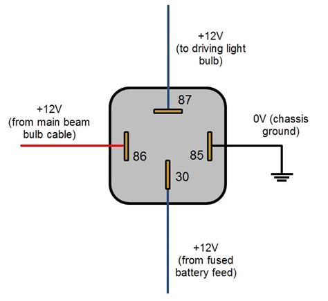 relay wiring diagram 4 pole 4 pole throw relay 12v