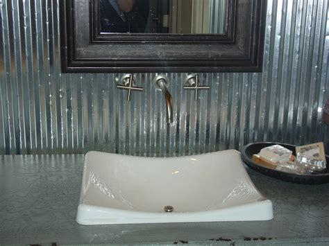 sink with corrugated tin backsplash in metro denver parade