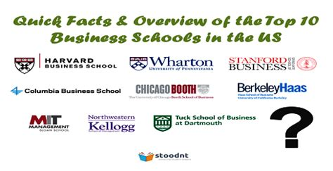 Top Mba Programs In Usa by Top 10 Business Schools In The Us Facts Overview