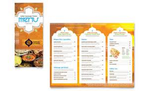 menu brochure template indian restaurant take out brochure template word