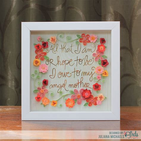 mothers day frames 17turtles s day gift idea shadow box frame free cut file