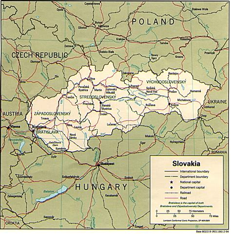 maps of map of slovakia images map pictures
