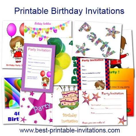birthday invitation template printable printable birthday invitations