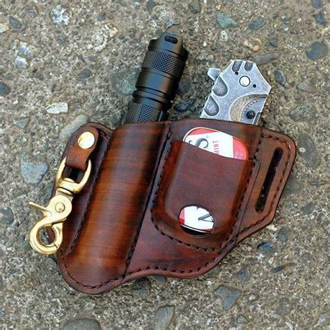 knife belt holster custom leather belt holster for a folding knife