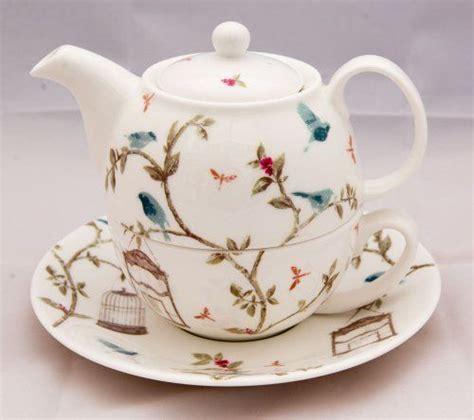 home decoration beautiful antique bird style porcelain tea bone china tea for one set in the bird cage design by cbell david bradbury