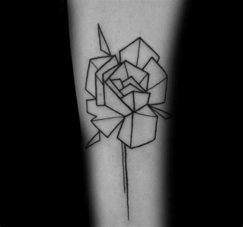 geometric tattoo michigan collection of 25 rose outline tattoo on forearm