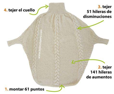 Como Tejer Poncho Con Mangas A Dos Agujas | poncho con trenzas y mangas tejiendo per 250