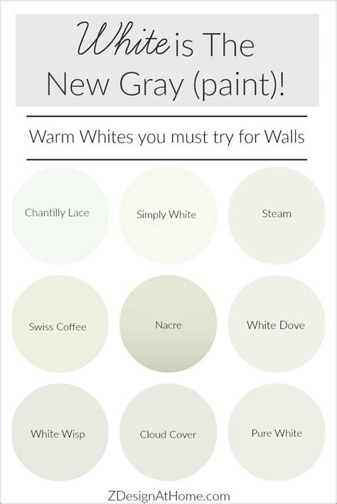 Best Warm White Paint For Interior Walls - white is the new gray paint paint paint
