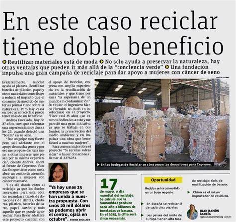 noticias en ecuador reciclar tiene doble beneficio reciclar ecuador noticias
