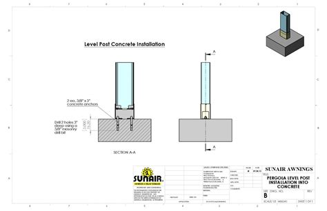 install l post concrete architects pergola 174 retractable deck patio awnings