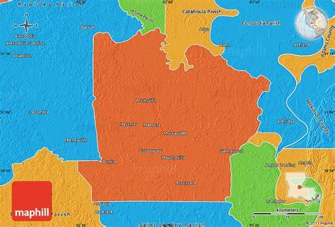 political map of louisiana political map of avoyelles parish