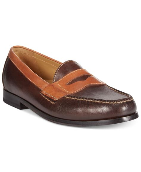cole haan two tone loafer cole haan two tone pinch loafers in brown for lyst