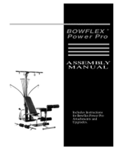 pro power bench instruction manual bowflex power pro manual