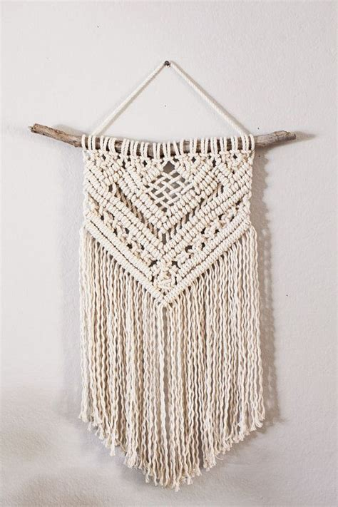 How To Make A Macrame Wall Hanging - cotton macrame wall hanging makram 233 och etsy