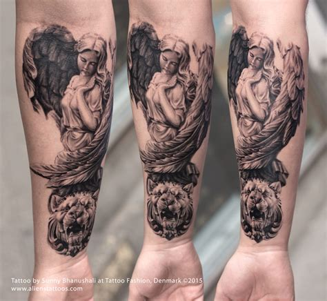 roman statue tattoo by bhanushali from aliens