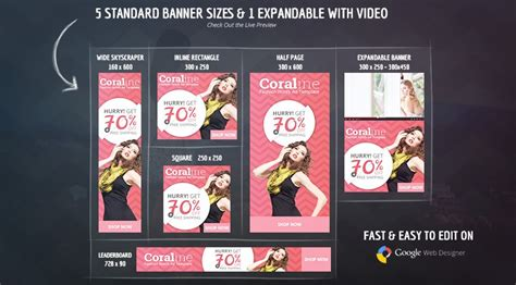 Coraline Fashion Html5 Ad Template Html5 Ad Templates