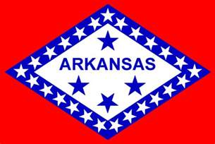 of arkansas colors the official arkansas state flag depicted above is the