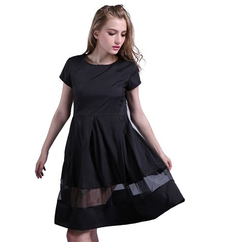 dress comfortable fashion women knee length dress casual wild short sleeve