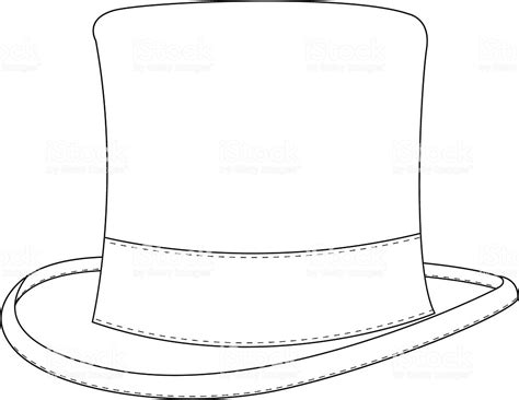 top hat template for classic top hat template stock vector 165595162 istock