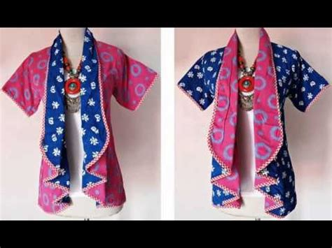 design blazer batik modern blazer batik solo cantik model cardigan selena 04 youtube