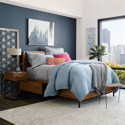 west elm bedroom furniture nash storage bed teak west elm