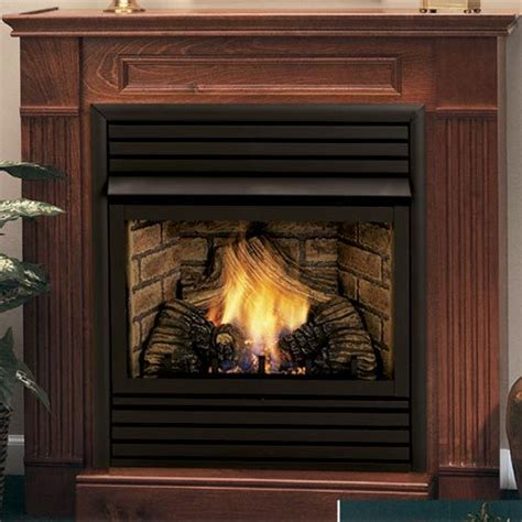 Ventless Fireplace Gas Logs by Monessen Hearth Saver 24 Inch Wall Surround Hearth Oak