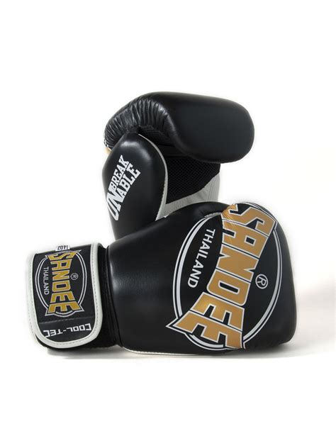 Five Sf 1 Gloves Whitegold sandee cool tec velcro black gold white leather boxing glove