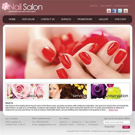 Sakura Salon Website Template Set Up 2 Years Hosting Nail Salon Website Template Free