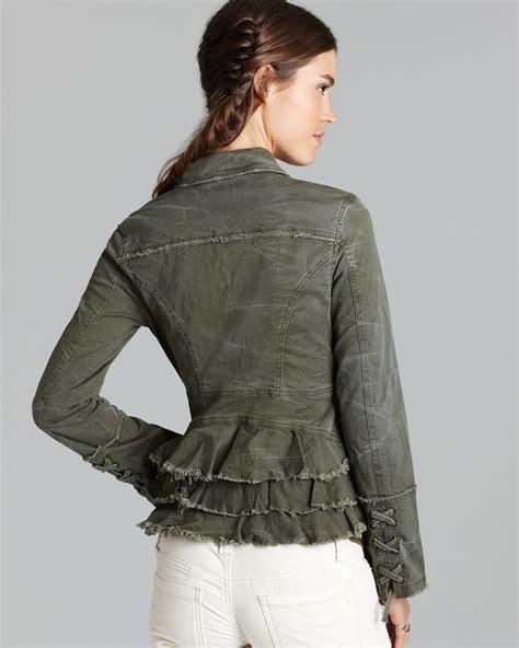 Ruffle Jacket lyst free jacket ruffle back twill